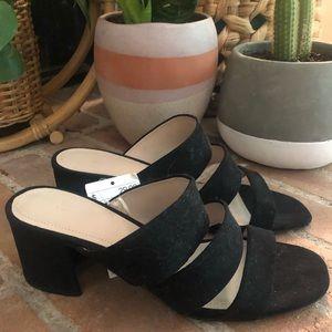 H & M  faux suede mule sandals